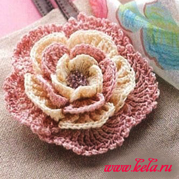 Вязание крючком цветы объемные