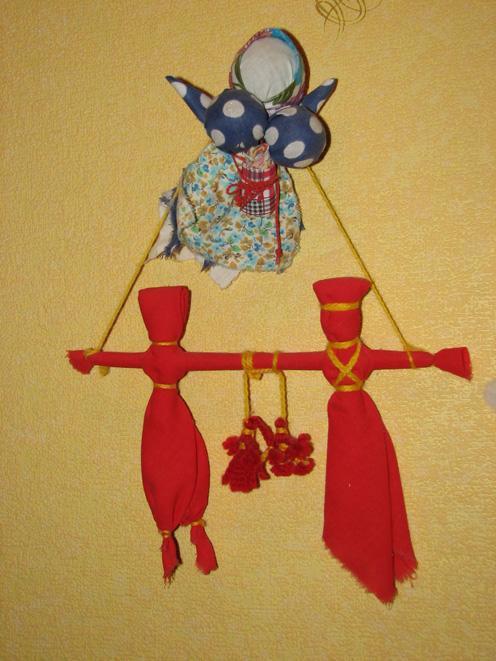 Часть...  Большое значение на Руси имели свадебные куклы.  Некоторых из них клали новобрачной на колени с целью...