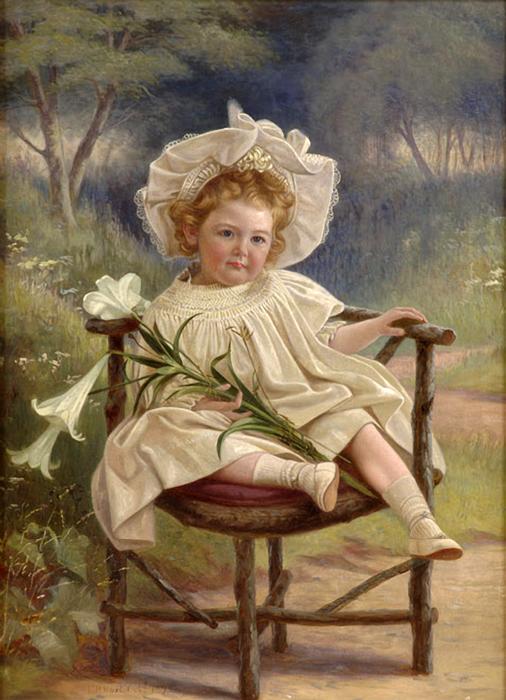Hart, C.H. Девочка с лилиями (506x700, 317Kb)