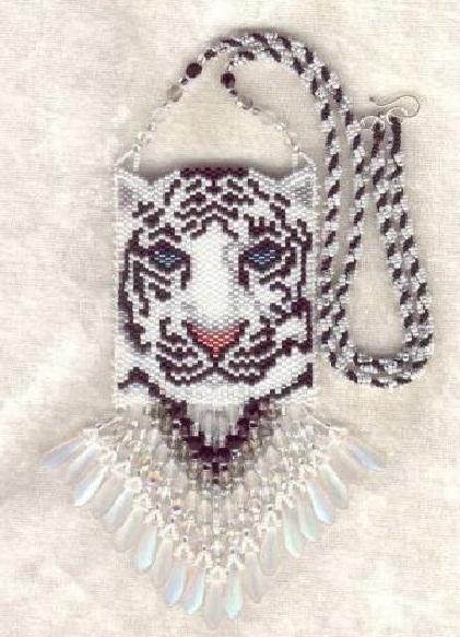 сумочка на шею «белый тигр»