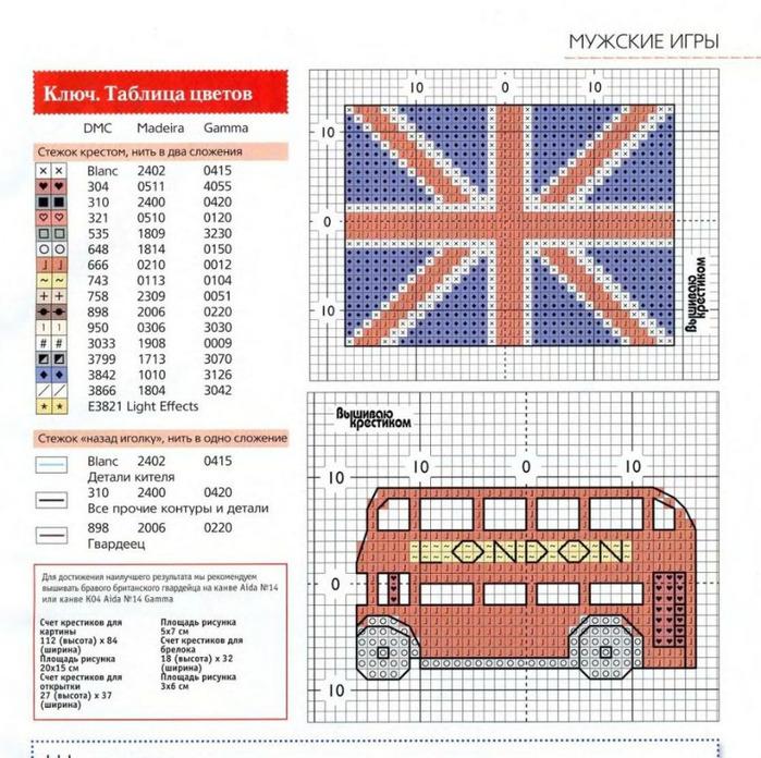 Английский флаг вышивка 100