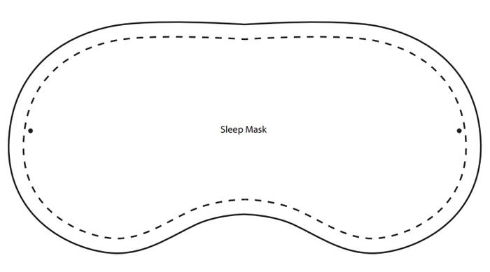 Выкройка очков для сна своими руками
