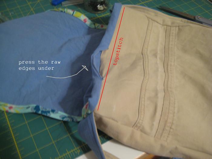 Сшить сумку для коляски из джинсов