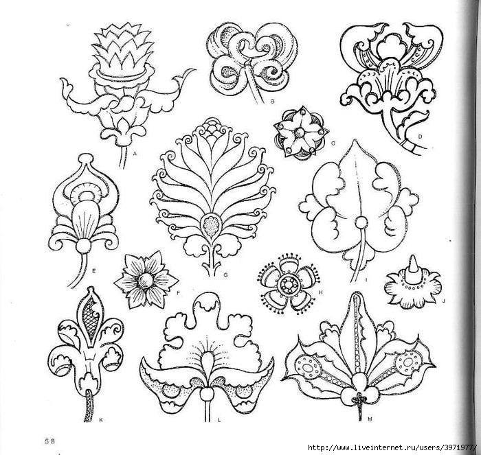 4000 motifs de fleurs et de plantes (46) (700x663, 247Kb)
