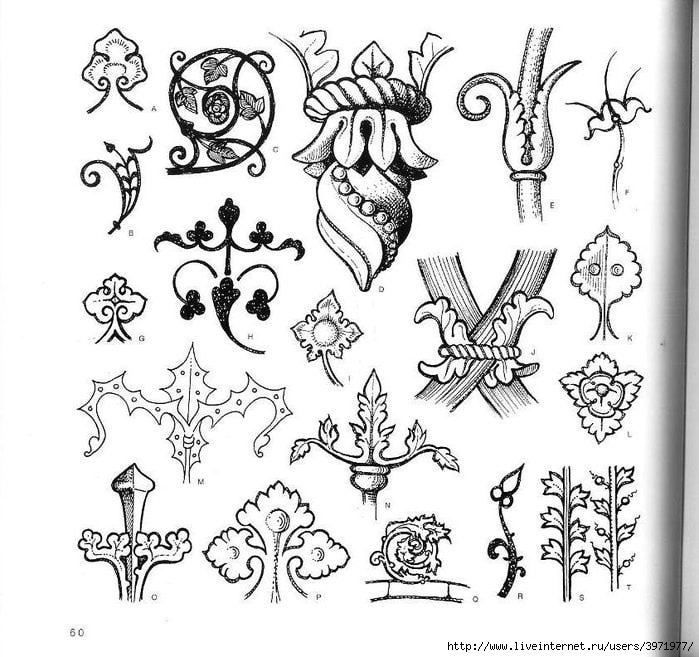4000 motifs de fleurs et de plantes (48) (700x657, 244Kb)