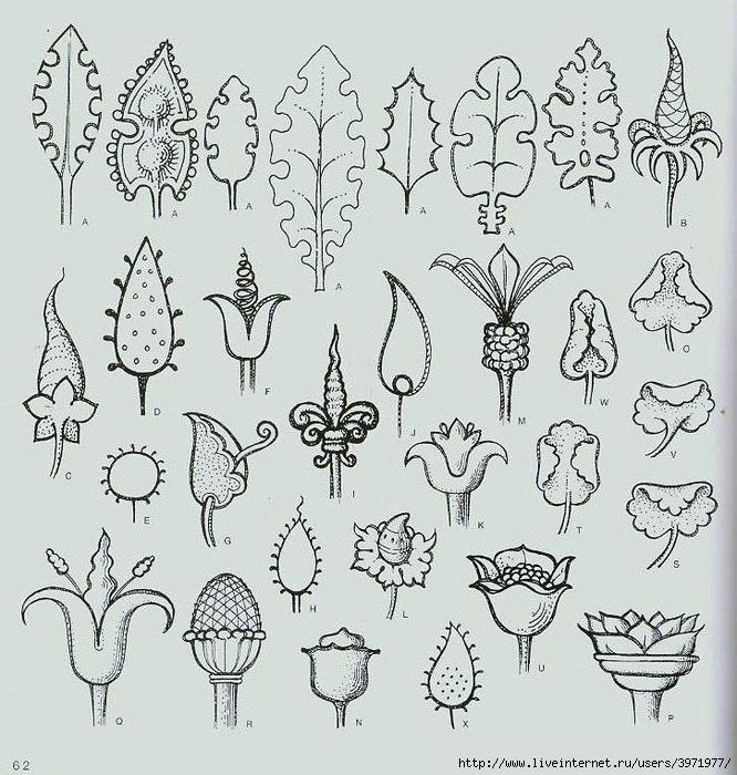 4000 motifs de fleurs et de plantes (50) (666x700, 286Kb)