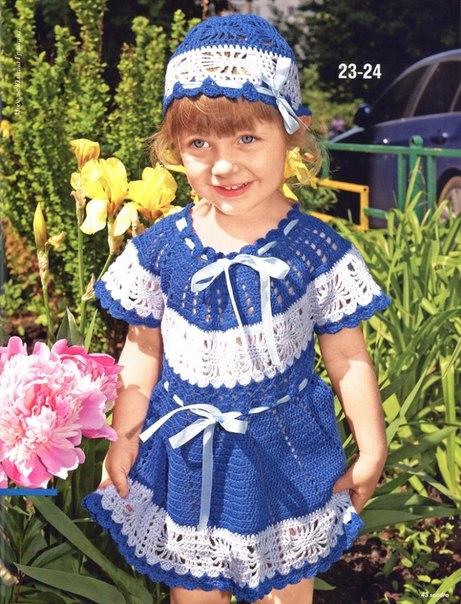 схема вязания детского платья (461x604, 101Kb)