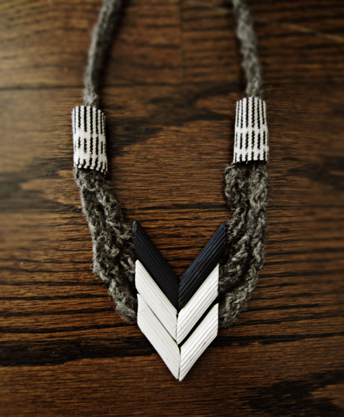 Ожерелье из макарон. Мастер-класс