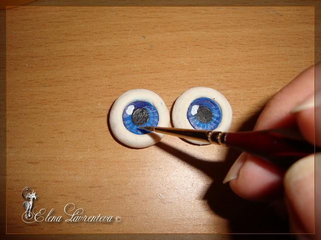 Как сделать глаза для кукол из пуговиц