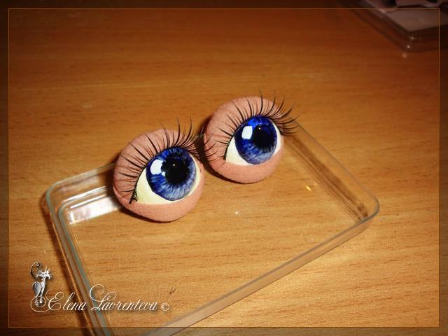 Ресницы для глаз куклы своими руками