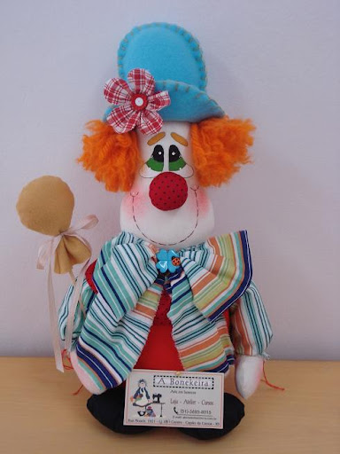 Как сшить клоуна из ткани