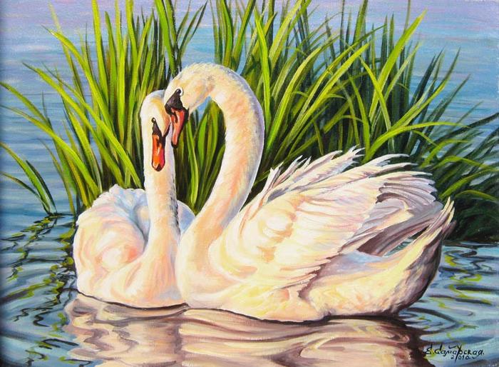 И вдруг - наткнулась на изумительной...  Заинтересовалась вдруг: а много ли песен - о Белой Лебеди - напели...