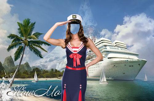 SlowMo, Photoshop, Templates, Costumes, PSD, Исходники, Шаблоны, Костюмы, Наряды, Фотомонтаж, Фотошаблоны, Фотокостюмы, Девушка, Морячка, Берег, Море, Корабль, Пляж, Песок, Берег моря, Бескозырка, Тельняшка, Seaman, Sailor, Sea, Ship, Woman  /1335790010_Sailor_Girl (500x327, 69Kb)