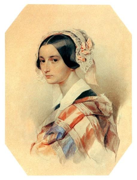 Портрет А.О. Смирновой-Россет 1834-35г,картон, акварель (458x600, 70Kb)