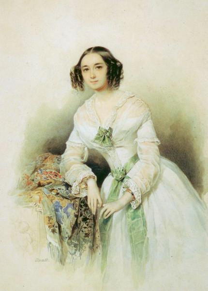 Портрет княгини, О.А.Голицыной, урожденной Щербатовой. 1847 (430x600, 72Kb)