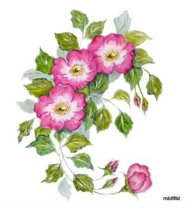 Ramo de flores pink (380x420, 31Kb)