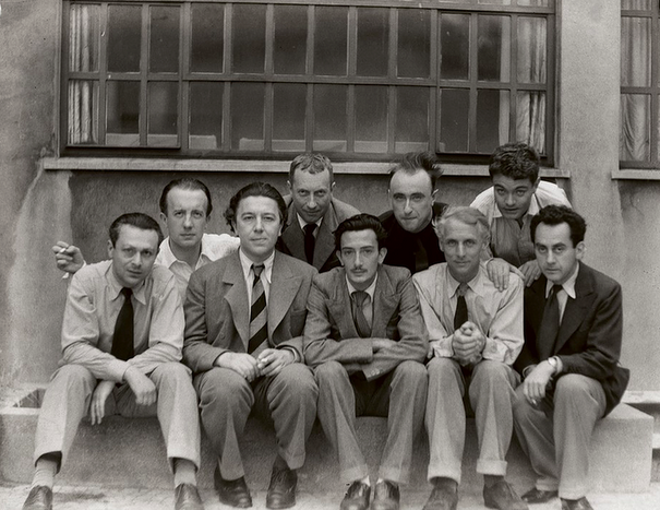 Tristan Tzara, Paul Eluard, Andre Breton, Hans Arp, Salvador Dali, Yves Tanguy,  Max Ernst, Rene Crevel, Man Ray (605x467, 515Kb)