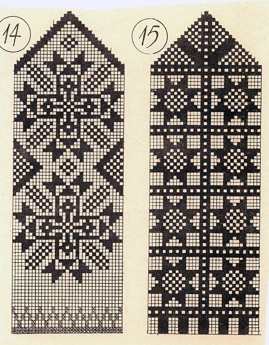 Варежки схемы 01 (546x700, 163Kb) .