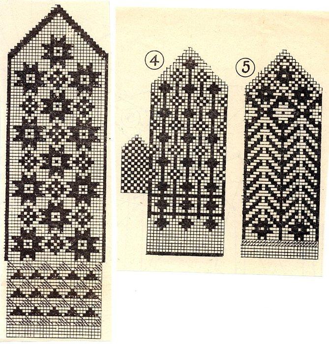 Варежки схемы 08 (669x700,