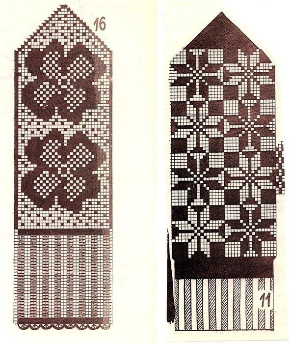 Варежки схемы 10 (593x700, 135Kb)