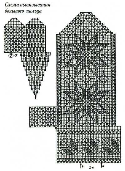 Варежки схемы 12 (400x549, 61Kb)