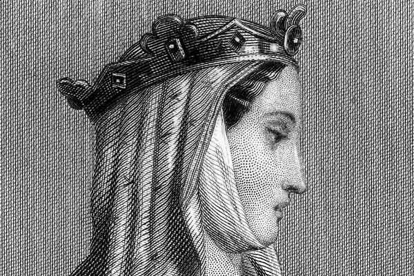 Алиенора Аквитанская. Фрагмент гравюры 1547 года (600x400, 62Kb)