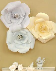 Как делать бумажные цветы большие