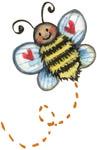 Превью Bee%2520with%2520Hearts (375x579, 56Kb)