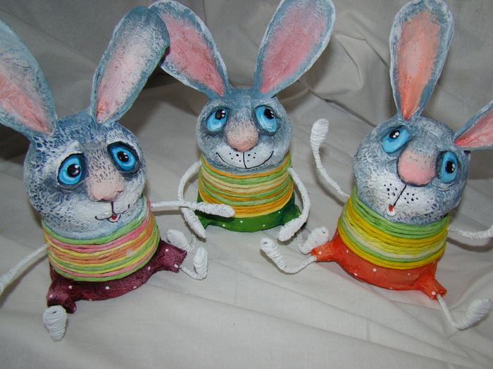 Заяц из папье-маше своими руками