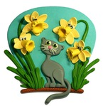 ������ Angry-Daffodils-&-Cat (577x593, 106Kb)