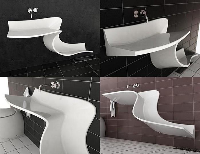 Креативные раковины для туалета и ванной 3 (700x540, 75Kb)