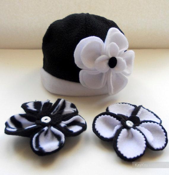 Цветы из фетра на шапку своими руками 10