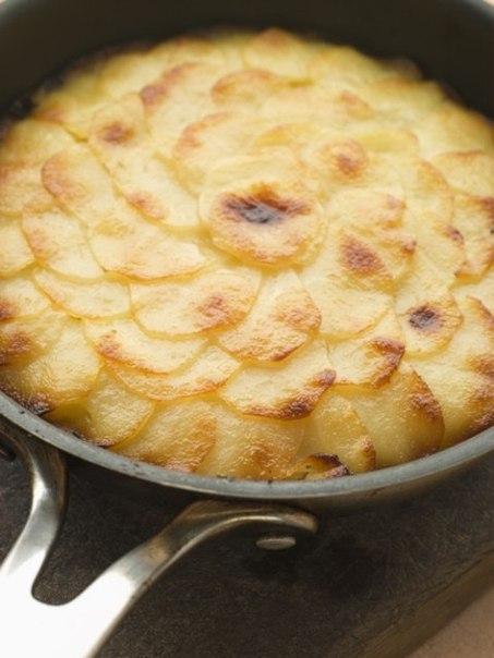 Картофельная запеканка Хризантема