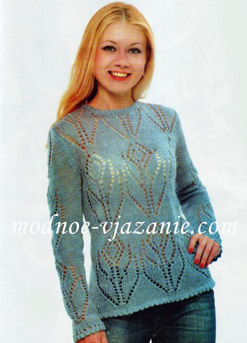 вязание спицами модели из мохера.