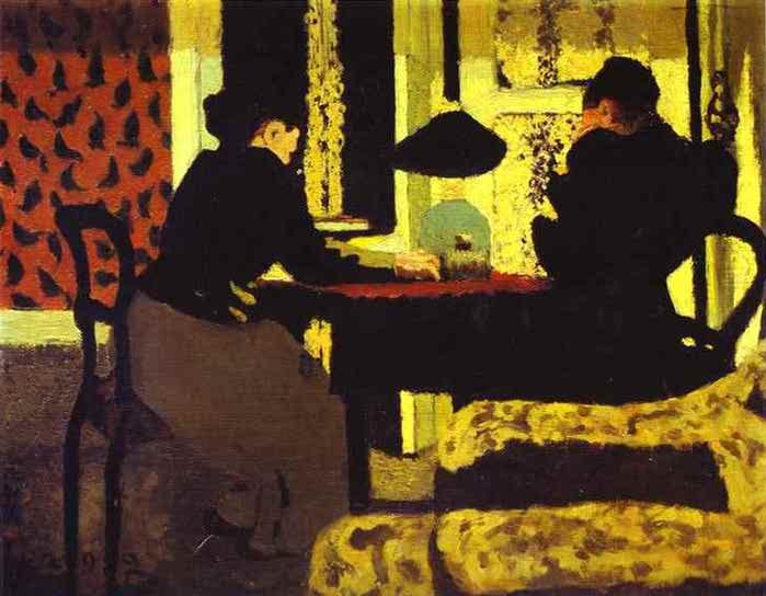 Под лампой или Две женщины под лампой 1892 (700x544, 35Kb)