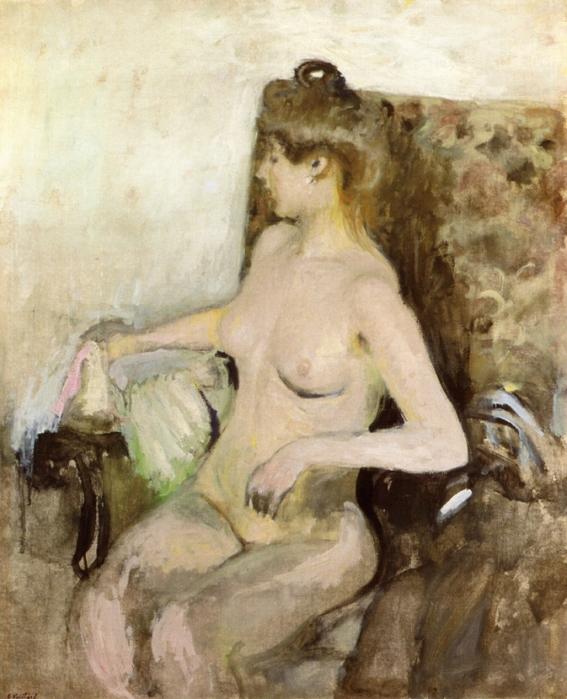 Сидящая обнаженная, 1903 (567x700, 293Kb)