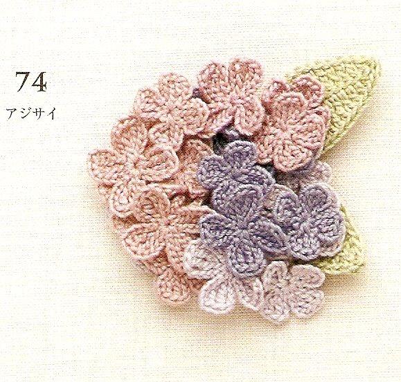 Вязаные цветы крючком.