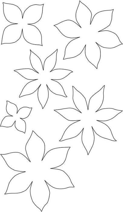 Цветы шаблоны-трафареты