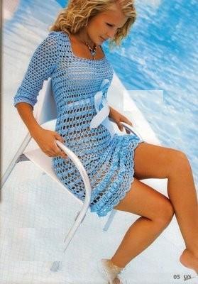 голубой сарафан с атласной лентой (279x400, 23Kb)