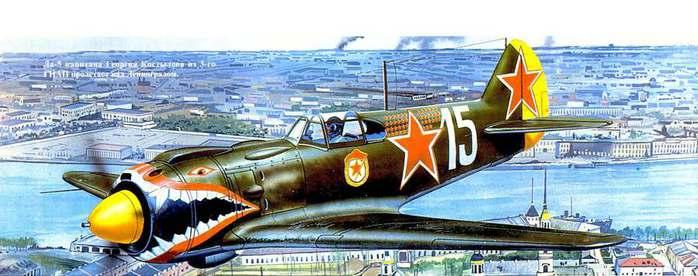 07 Костылева Ла-5 над Ленинградом (700x276, 41Kb)
