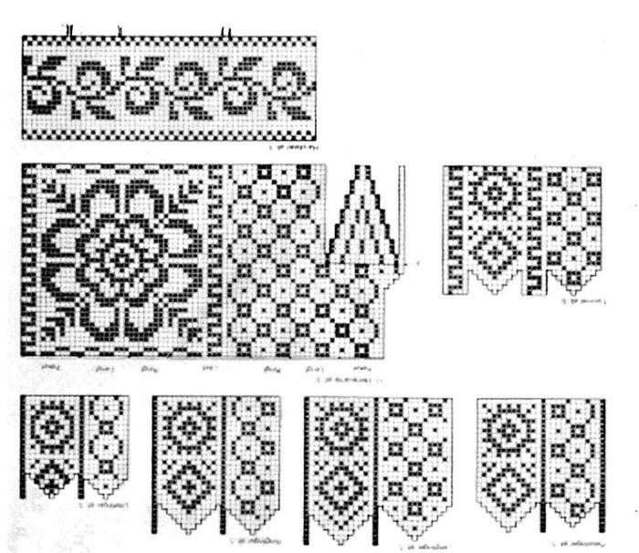 Схемы и узоры для джурабов