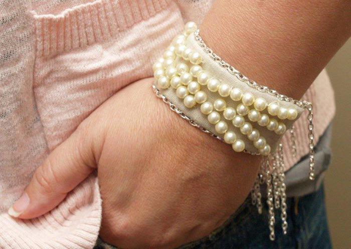 Сделать браслет своими руками из жемчугов