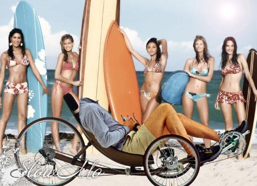 SlowMo, Photoshop, Templates, Costumes, PSD, Исходники, Шаблоны, Костюмы, Наряды, Фотомонтаж, Фотошаблоны, Фотокостюмы, Турист, Пляж, Море, Девушки, Веломобиль, Велосипед, Серфингистки, Tourist, beach, Sea, Girls, Surfer, bicycle, bicyclist, На пляже, Девушки в бикини /1336560870_Tourist (500x363, 128Kb)
