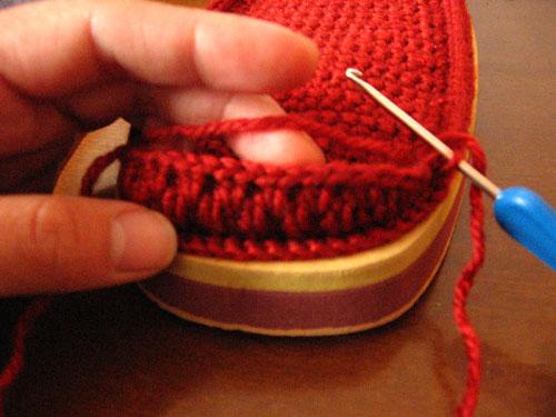 Сами своими руками вязание крючком тапочек
