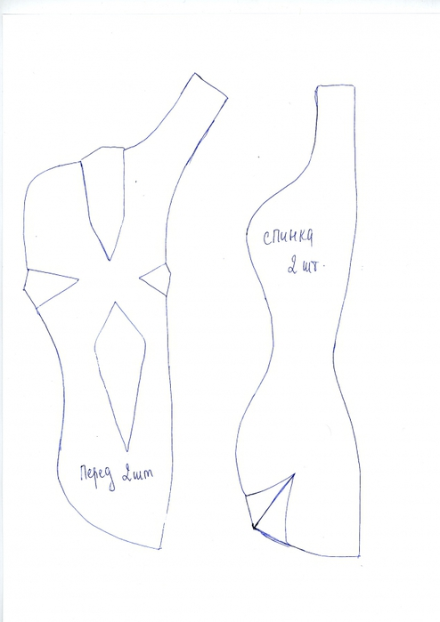 Как сделать выкройку текстильной шарнирной куклы самый простой способ