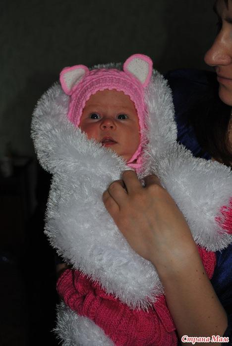 Вязание шапочки для новорожденных из травки