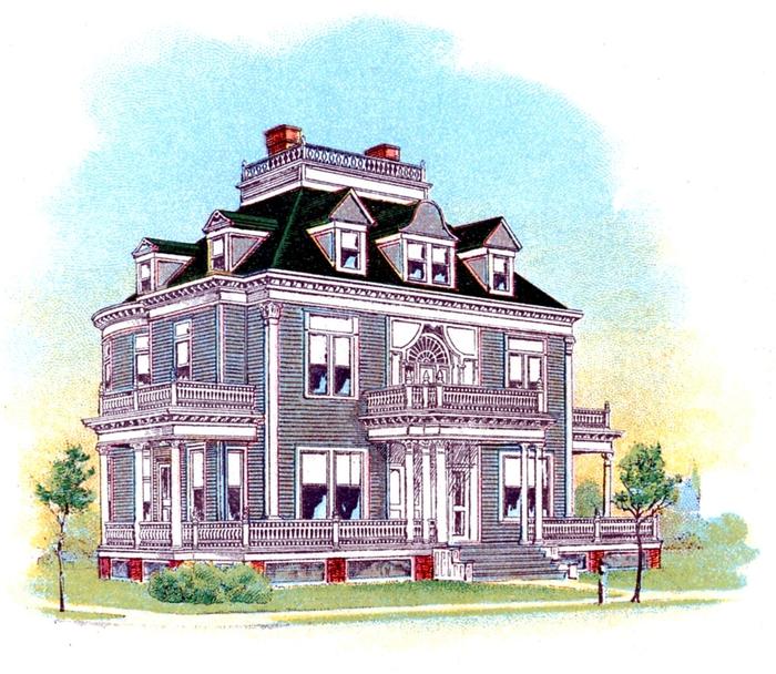house vintage image graphicsfairy005 (700x608, 346Kb)