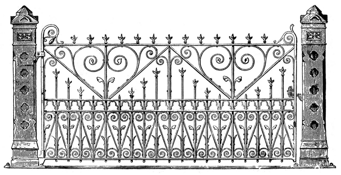 Iron gate vintage image graphicsfairy005b (700x359, 173Kb)