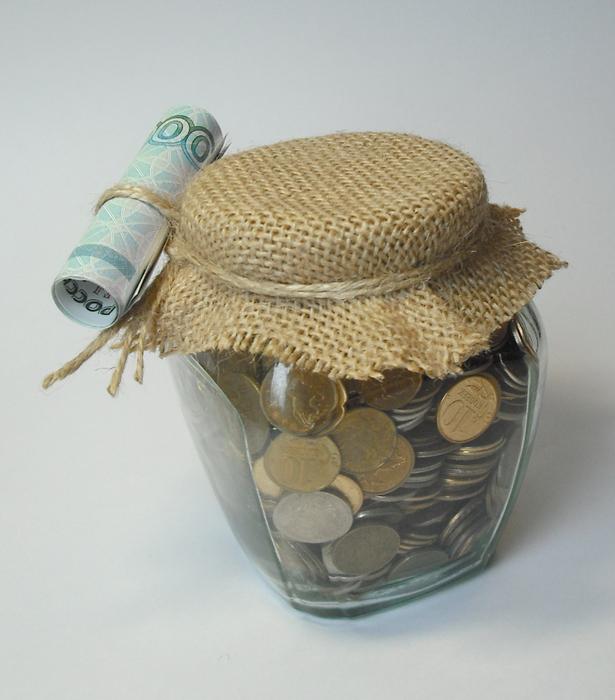 Деньги в банке подарок своими руками фото