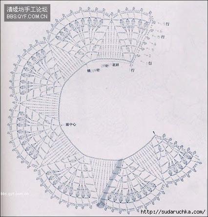 Кружевной воротничок крючком схема фото 421